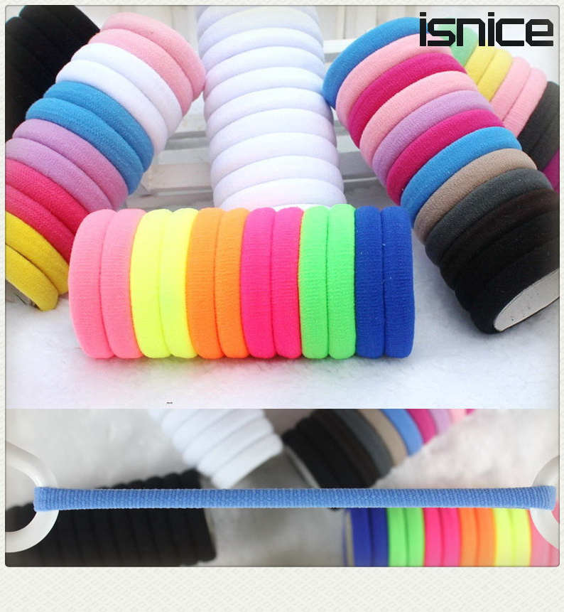 TS 5 Candy Colored Hair Holders Rubber Bands Elastics Accessories Girl Tie Gum haar headwear women - New Sky Company Limited store