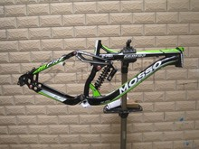 New arrival mosso 668FR2 AL7005 extra light  full suspension downhill mountain bike frame with DNM absorber(China (Mainland))