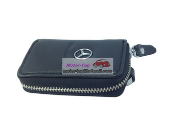 Remote Key Chain Ring Bag Case Holder Leather Cover Mercedes Benz AMG S M B C EFree Shipping High Quality Wholesale