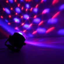 Auto Sound Activated  LED Mini Crystal Rotating RGB  LED Stage Lights for KTV Xmas Party Wedding Show Pub Disco Ball Effect(China (Mainland))