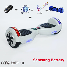 Bluetooth speaker Hoverboard Self Balancing 8 & 6.5 inch Electric Skateboard Hover Board gyroscope Standing Electric Scooter()