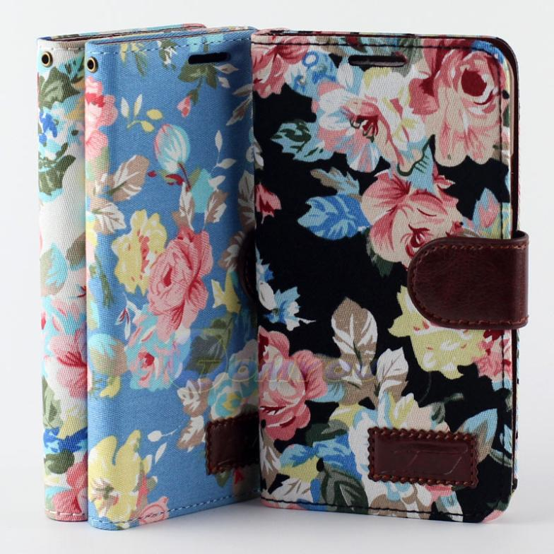 PU Leather Flip Flower Pattern Clip Wallet Case Cover Samsung Galaxy Note 3 Lite Neo N7505 N7506V Mini Stand Holder - Terry store