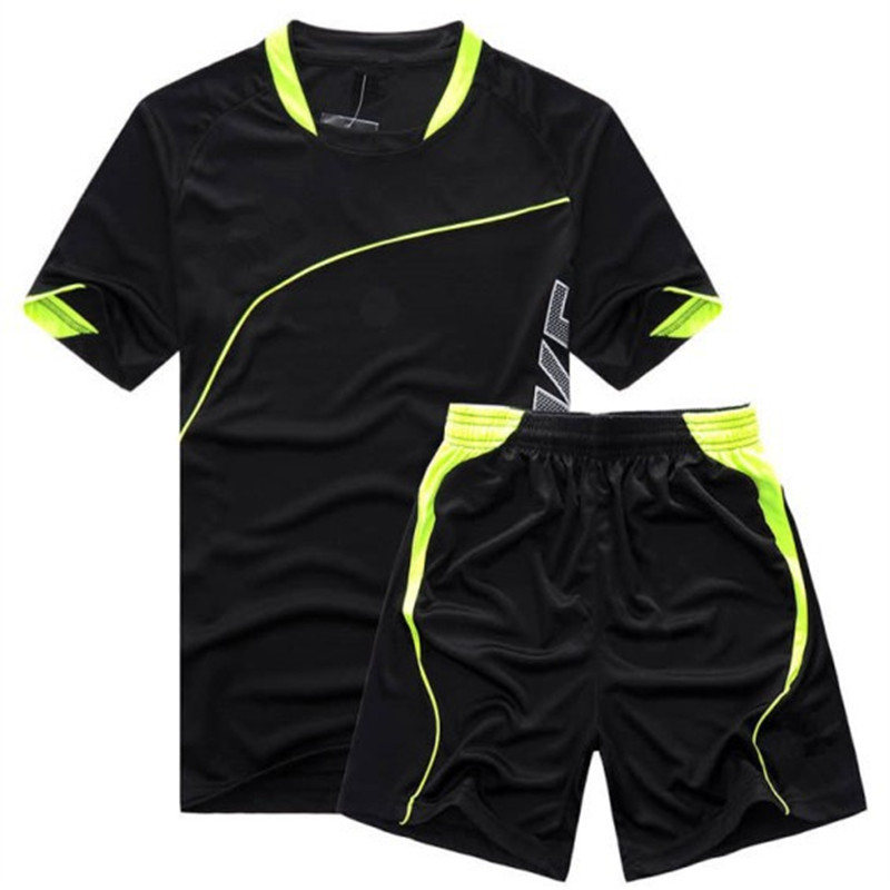 Football Jersey and shorts Training Suit Clothes Set Football T-shirts Sportswear for Men Women Soccer Sports Clothing Wear L342(China (Mainland))