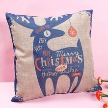 Buy Cotton Linen Home Pillow Cover Xmas pillowslip Merry Christmas/Santa Claus/Deer Gift Design Cushion Cases Top for $5.09 in AliExpress store