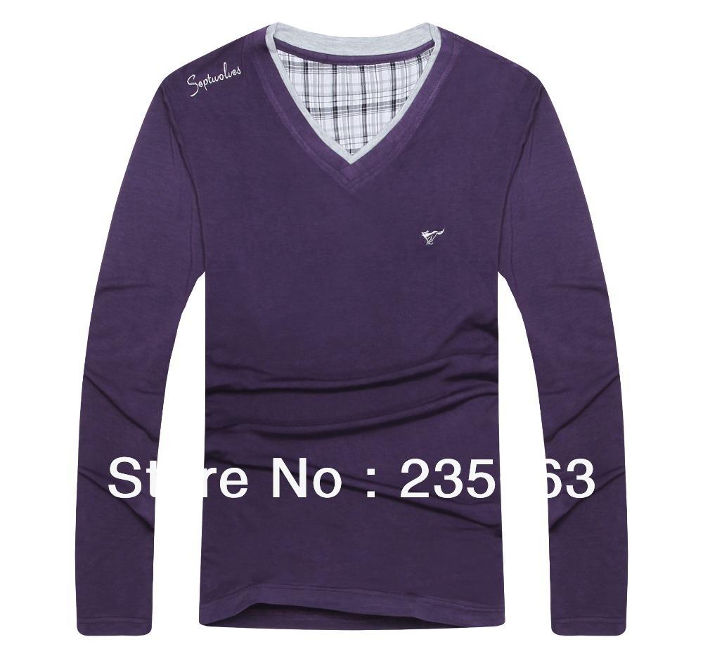 Free Shipping Mens Long Sleeve T Shirt Mens Autumn And