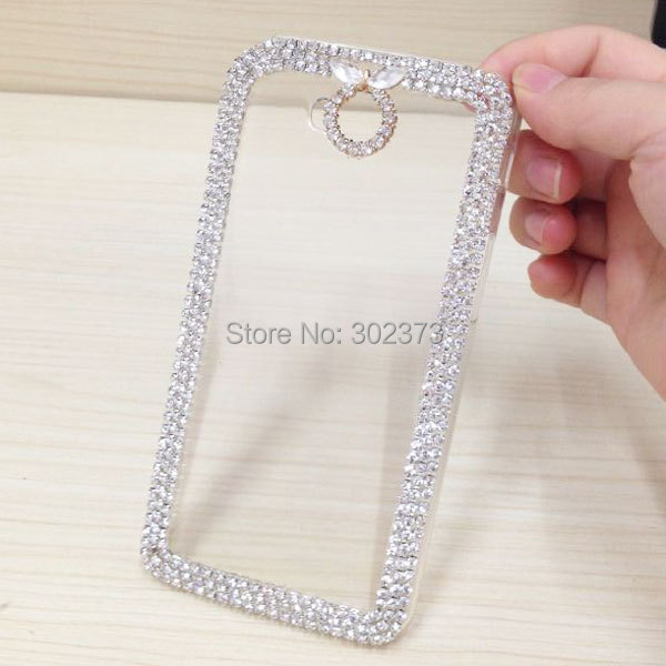 LG G Pro Lite D686 Luxury Crystal Bling Case D684 Dual Cell Phone Bags 3D Rhinestone Cover Clear - cell phone accessories (wang qiang' store store)