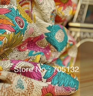 150cm wide 5 meters exotic Sunflower poplin fabric cotton textile for cloth curtain dress Patchwork material