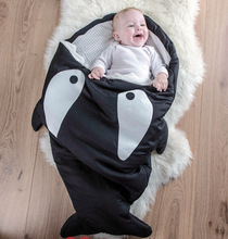 Sleeping Bag For Children Winter Strollers Bed Swaddle Blanket Wrap Cute Shark Bedding Newborns Baby winter