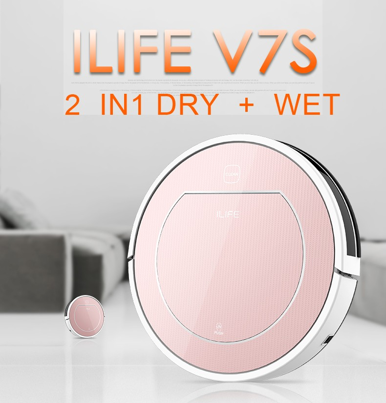 BEST Robotic Vacuum Cleaner household ILIFE V7S,Dry and Wet Mop ,Sensor,household cleaning(China (Mainland))