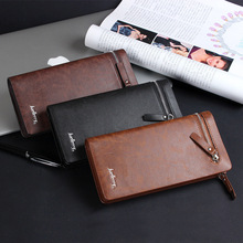 Baellerry Brand New Men Wallet Genuine Leather Mobile Pouch Designs Men Purse With Card Holder Long Wallet Hot Men Clutch Bag