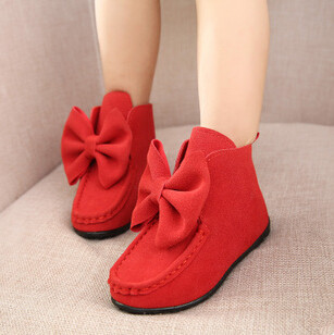 kids girls bowknot princess single leather ankle boots spring autumn flat sole boots for 2-10 ages girls boots free shipping<br><br>Aliexpress