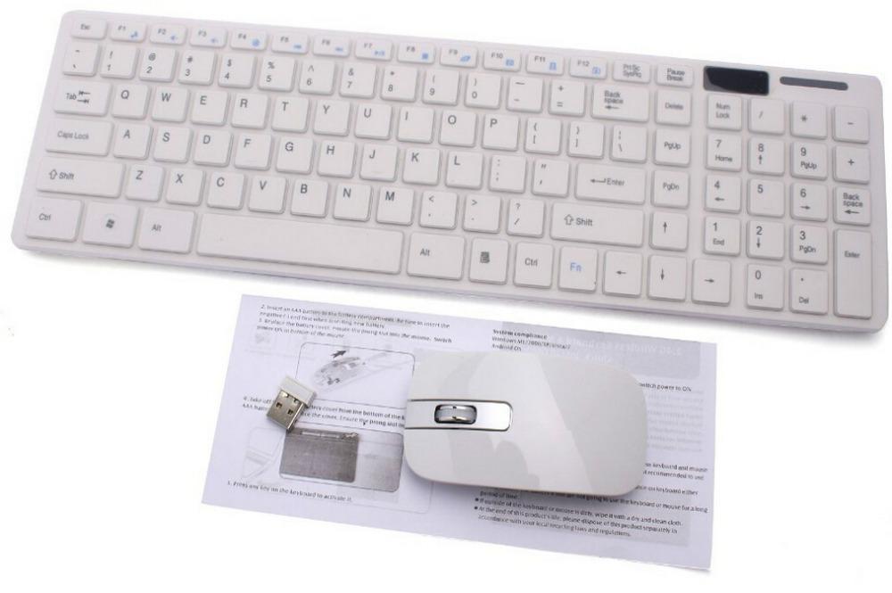 1set 2.4G White Wireless Metal PC Keyboard +Mouse Keypad Film Kit Set For DESKTOP PC tablet computer Laptop General(China (Mainland))
