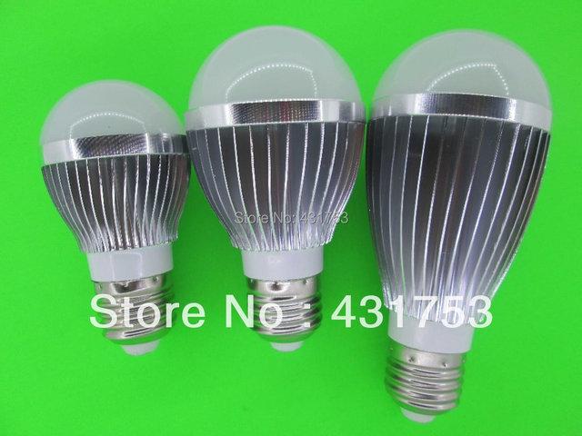2014 Sale Real Led Lamp Led Bulb Lamp,dimmable Ac85-265v ,e14 E27 Gu10,silver Shell Color ,warm/cool White,5*2w +freeshipping