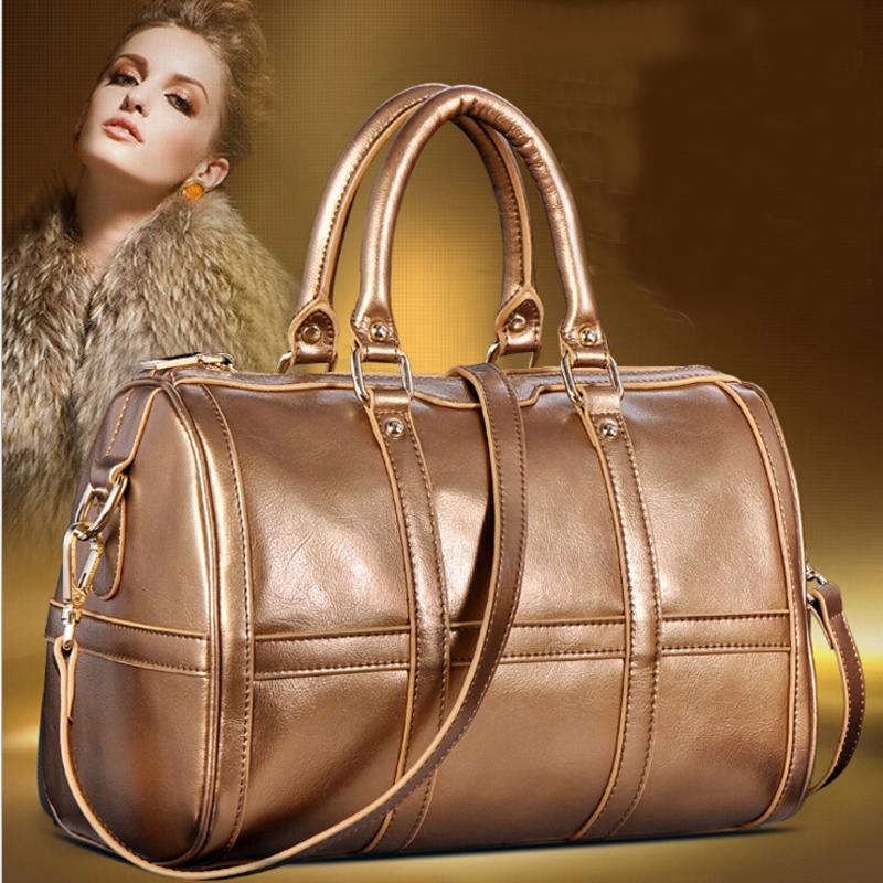 2016 Famous Brand Women Handbag Genuine Leather Shoulder Bags Ladies Tote Hand Bag Designer Handbags Boston Pillow Crossbody