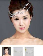 1pcs High Quality Free Bending Crystal Tiara for Wedding Handmade Bridal Tiara Headband IN STOCK multiple hair styles(China (Mainland))