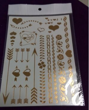 Gold and Silver Foil Skin Jewelry Body art tattoo(China (Mainland))