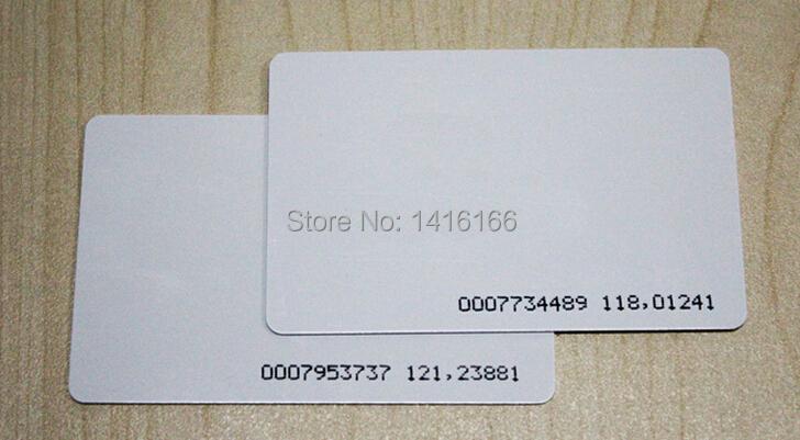 100PCS EM ID CARD 4100/4102 reaction ID card 125KHZ RFID Card access control card(China (Mainland))