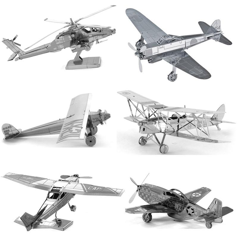 Различные Виды Истребитель Самолет Вертолеты 3D Металлические Головоломки Для Взрослых Образовательные Игрушки Головоломки Детские Игрушки Для