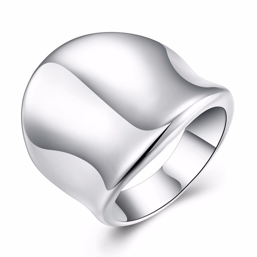 Vintage Unique design thumb ring jewelry white gold plated trendy engagement ring Party Birthday Gift unisex bijouterie INE064(China (Mainland))