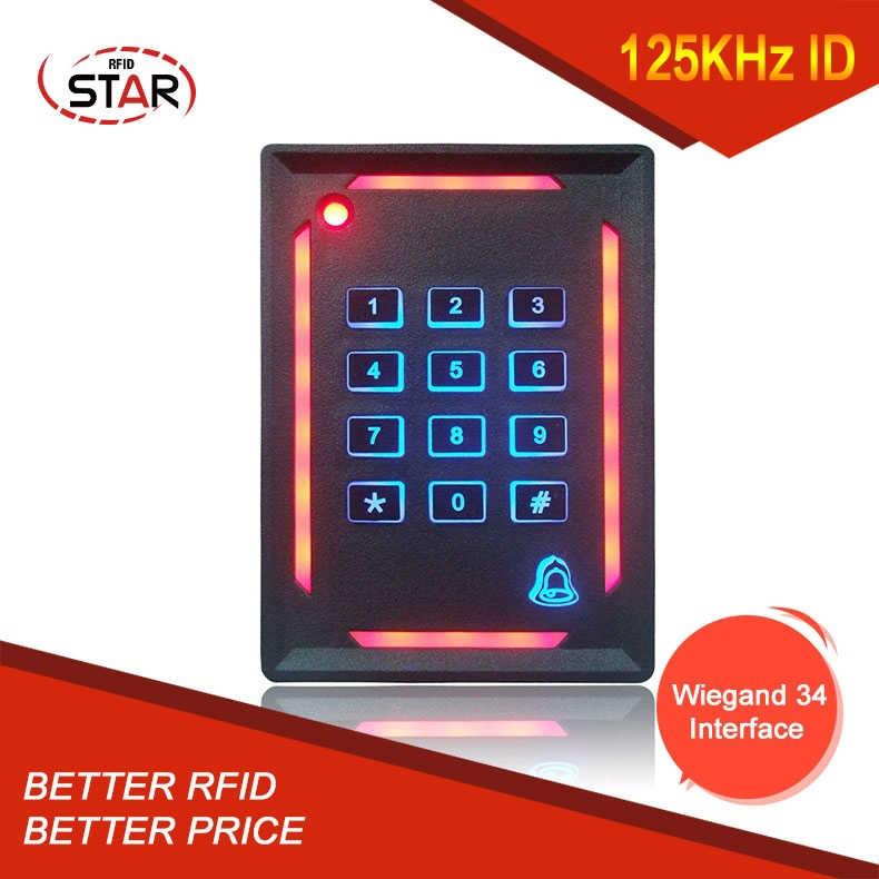 IP65 Waterproof access control proximity ISO14443a LF EM ID card rfid reader with wiegand34 interface(ST-N09)(China (Mainland))