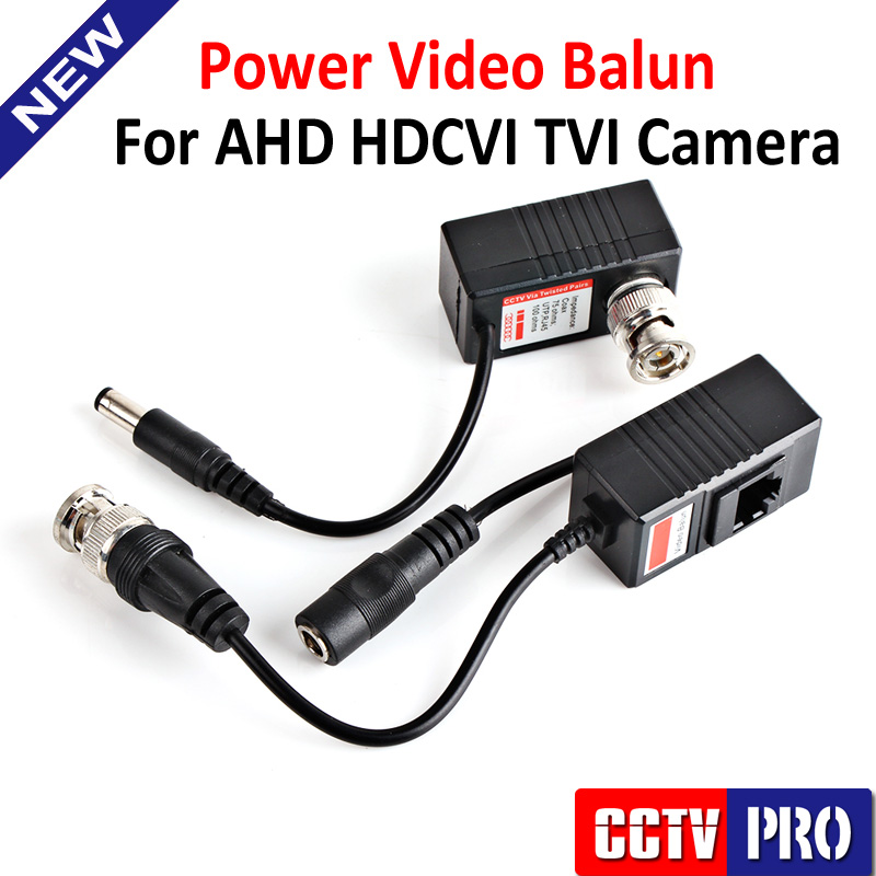 CCTV Camera Video Balun Transceiver BNC UTP RJ45 With Video And Power Over CAT5/5E/6 Cable For Analog HD CVI/TVI/AHD Camera(China (Mainland))