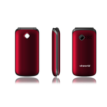 Original Vkworld VK Z2 Flashlight Cell Phone 2.4 inch Qwerty Keyboard Long Standby Loud Sound FLIP Phone Old Man People Phone(China (Mainland))