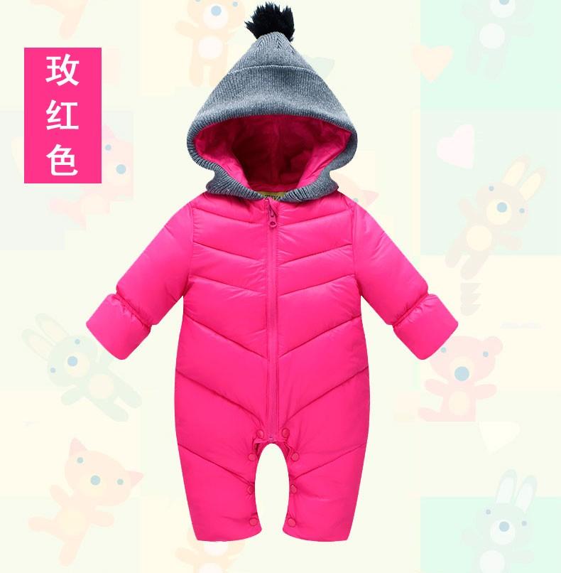 Скидки на Ребенка детский зимний комбинезон новое прибытие зима пуховик для новорожденных девочек мальчиков верхняя одежда комбинезон хлопка мягкий теплый малышей детские снег износ