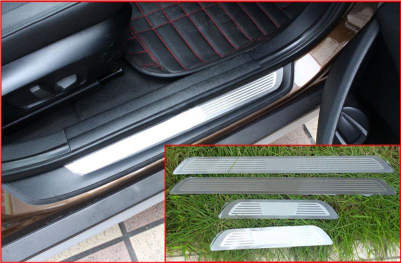 Door sill scuff plate Guards Sill for BMW X3 X6 E71 X5 E70 X1 E84 2010-2013(China (Mainland))