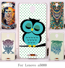 New Arrivel DIY good selling hard painting protective case with Colorful Owl  for Lenovo A5000 A 5000 cover back housing