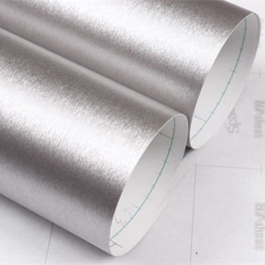 Self adhesive wall paper furniture decor silver brushed metal texture wallpapers film cabinets waterproof 2meter stickers(China (Mainland))