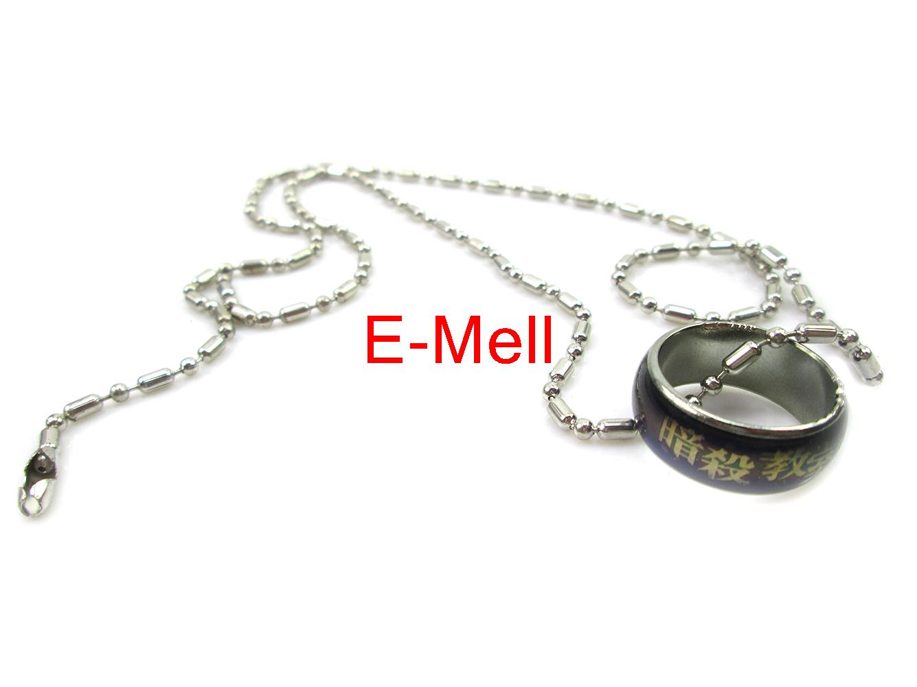 Cosplay Assassination Classroom Cartoon Logo Necklet Change color finger necklace(China (Mainland))