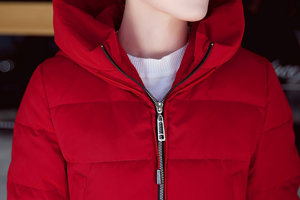 Winter New 2016 Women Hooded Thicken Keep warm Loose Big yards Fashion Trend South Korea Down Jacket Medium Long Coat G1650