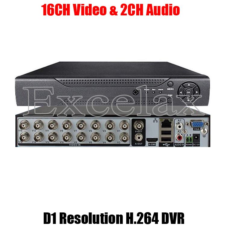 16CH D1 Resolution H.264 Standalone DVR 16-Channel Digital Video Recorder w/ HDMI BNC RCA Port P2P Cloud for Analog CCTV Camera(China (Mainland))