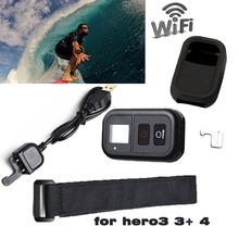 GoPro Wifi del Mando a distancia 0.8 «LCD Inteligente Wi-Fi Remote Controller Set para GoPro go pro Accesorios Hero 4 hero 3 hero3 + hero3