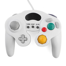 White Advanced Wired Turbo Analog Shock Game Controller For Nintendo GameCube NGC and Wii
