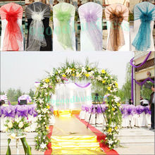 21 Colors Organza Chair Hoods/Chair Caps/Chair Cover Sash For Wedding Event&Party&Home&Banquet Decoration Textile(China (Mainland))