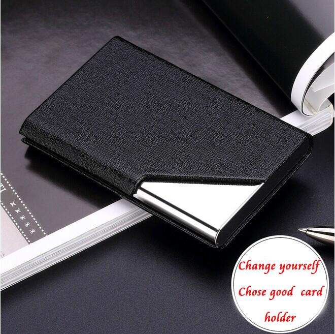 Free Custom Gift PU Fashion Style Mens Business Card