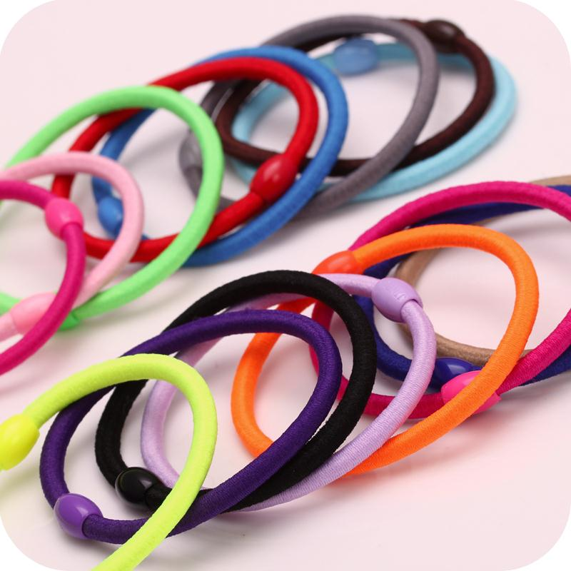 5pc/lot Hair Accessories loving hair tie elastic force rope leather string tie hair jewelry freeship(China (Mainland))