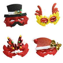 Buy Lovely fashion Christmas Glasses Performance Props Christmas & Holiday Party Half Masks Veil mask for $3.99 in AliExpress store