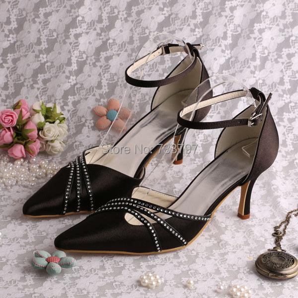 New Design Custom Handmade Ivory Rhinestone Low Heel Bridal Shoes Lady Free Shipping Dropship<br><br>Aliexpress
