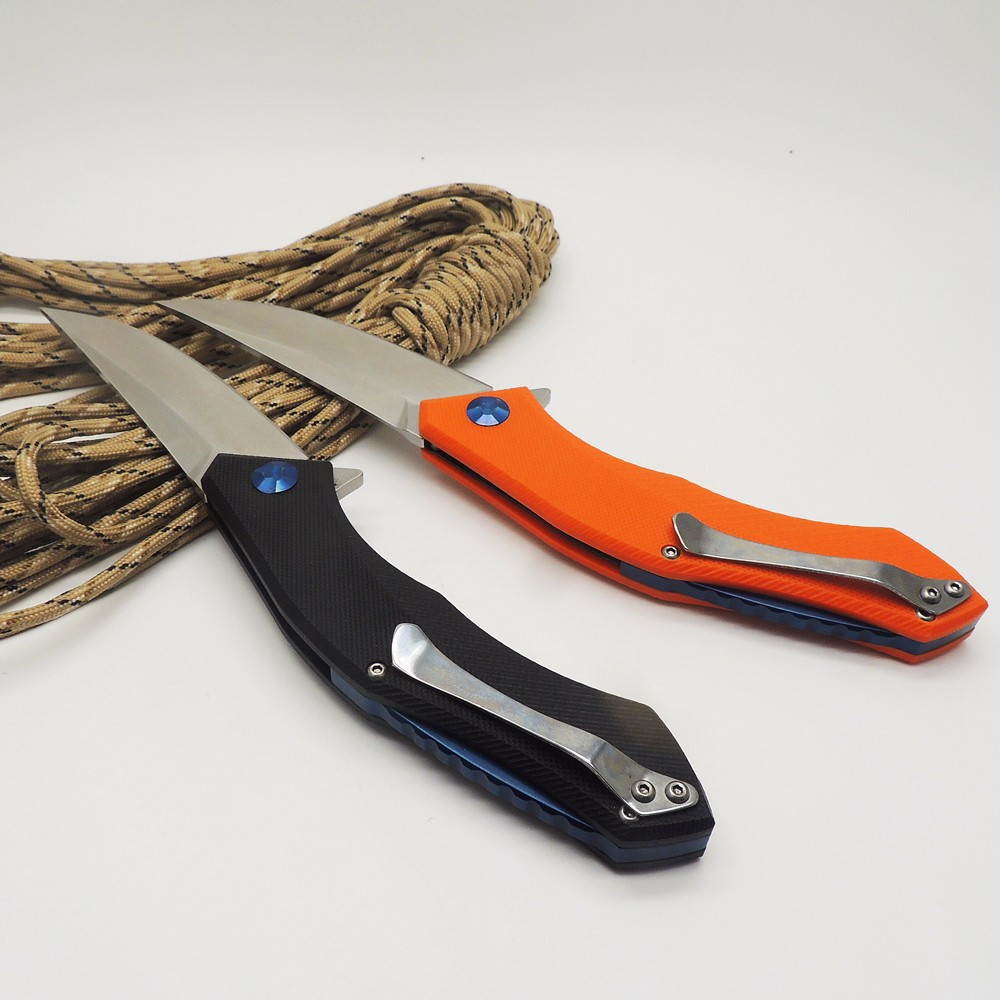 Buy WLT Blue Moon Pocket Survival Camping Folding Knife D2 Blade Tactical Rescue Knives G10 Handle Outdoor Combat Hunting EDC Tools cheap