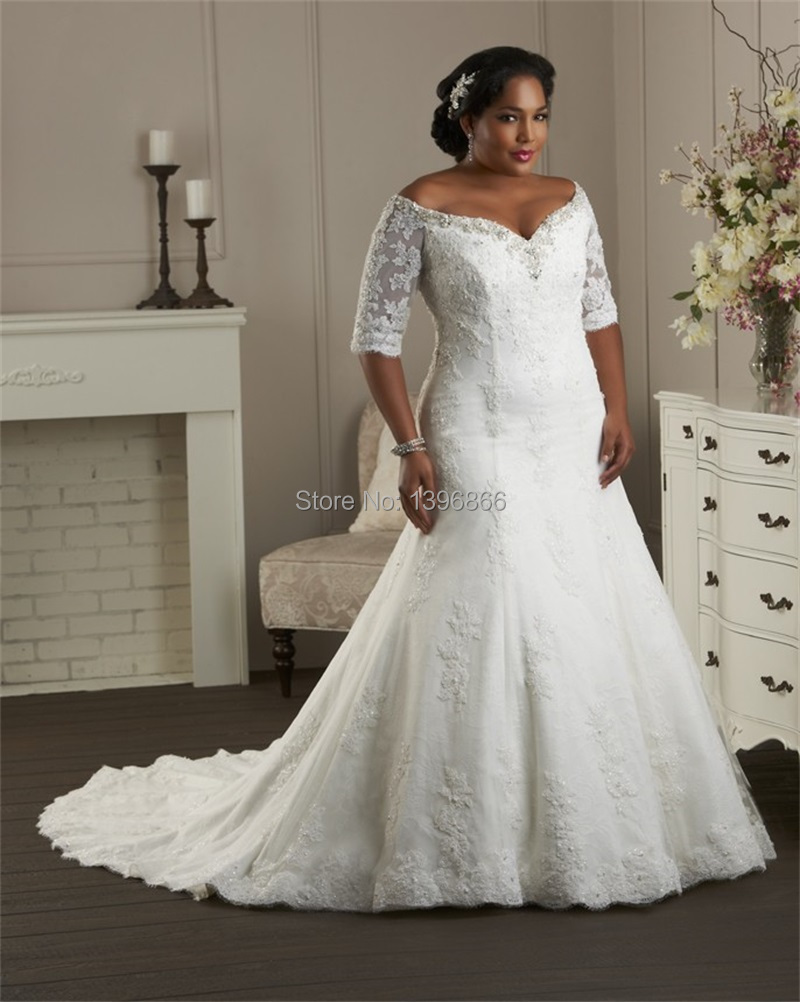 Ivory Wedding Dresses With Sleeves Plus Size Plus Size Ivory Wedding Dress