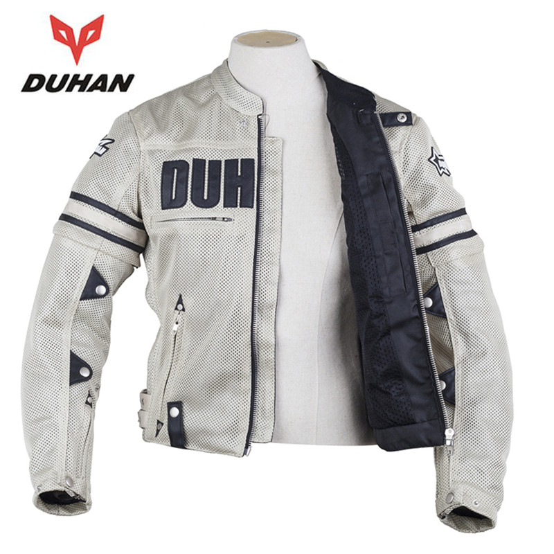 Duhan men 39 s motorcycle jacket motocross clothing jaqueta for Motorcycle body armor shirt