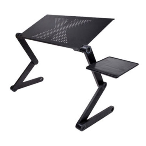 Promotion! Portable Foldable Adjustable Laptop Desk Computer Table Stand Tray For Sofa Bed Black(China (Mainland))