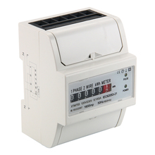 230V 5 (100) A AC power meter SO Electricity KWH Meter DIN Rail LCD BI104(China (Mainland))