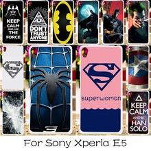 DIY Hard Plastic Soft TPU Silicon Phone Case Sony Xperia E5 F3311 F3313 Cover America Captain Batman Spiderman Shell Housing - TAOYUNXI store
