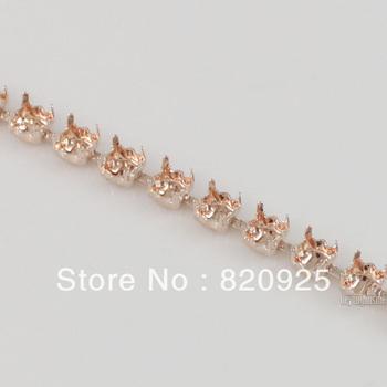 1 Yard Light Peach Empty Cup Chain For Rhinestone Costume Trims Making 5mm