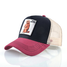 الرجال Snapback قبعات الصيف تنفس قبعة بيسبول النساء بارد الشارع الشهير الذئب التطريز سائق الشاحنة العظام للجنسين الهيب هوب القبعات الذكور(China)