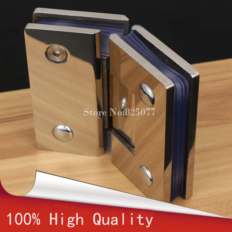 1PCS 135 Degree Wall to Glass Offset Square Geneva Cutout Frameless Shower Door Hinge - Polished Chrome HD22(China (Mainland))