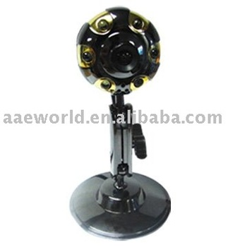 latest webcam,pc camera,computer accessory,driveless ,metal case ,fashion design,with 6 LED lights,Y199